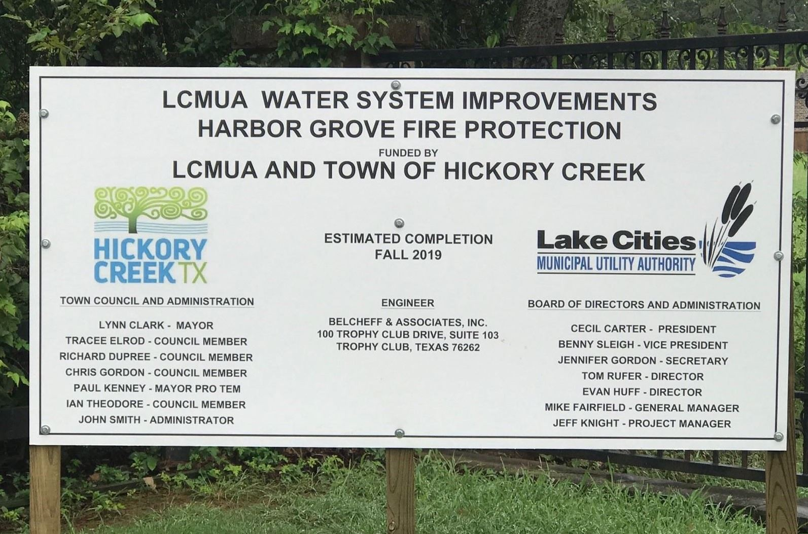 Harbor Grove 12WL Construction Sign