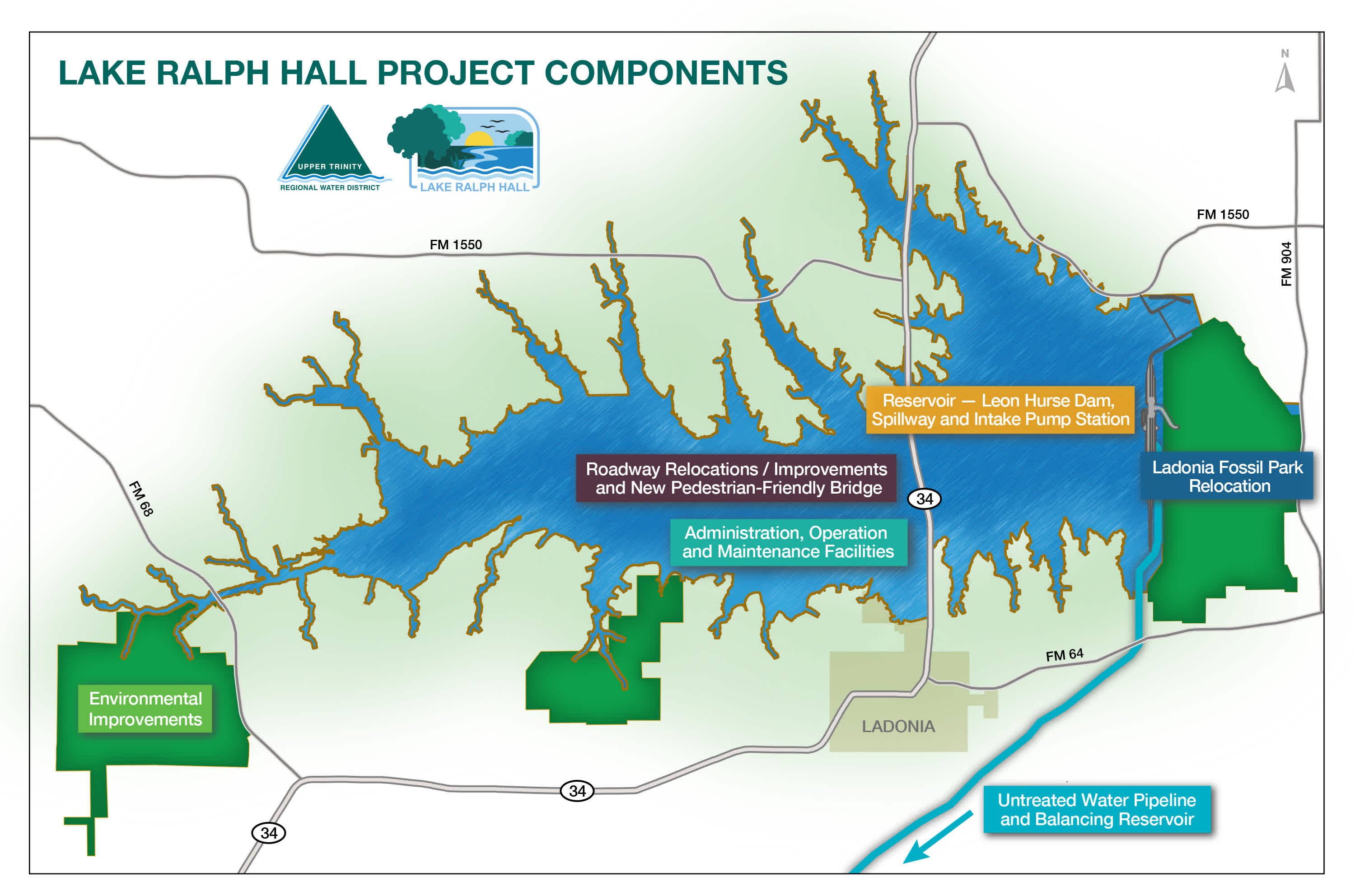 Lake Ralph Hall Project Components